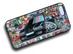 Koolart STICKERBOMB STYLE Design For Black Retro BMW E36 M3 Hard Case Cover Fits Apple iPhone 4 & 4s